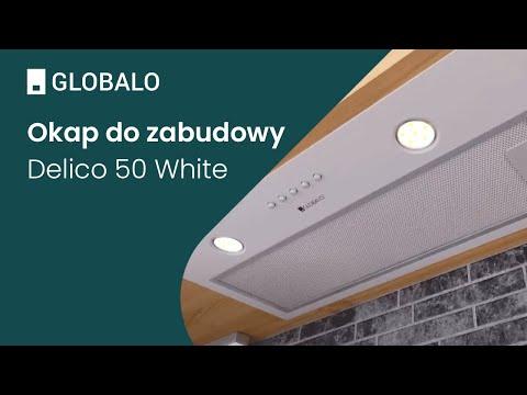 Okap do zabudowy GLOBALO Delico 50.1 White   Ciche i wydajne okapy GLOBALO