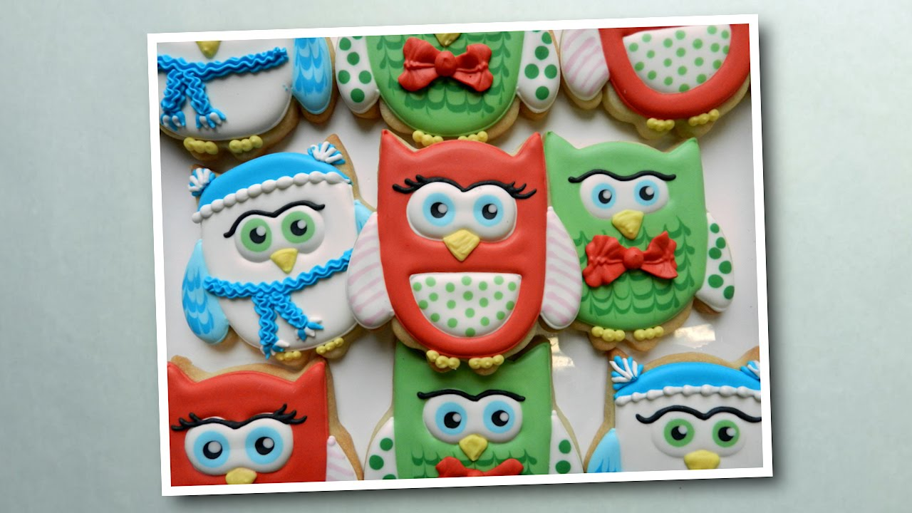 Owl Decorated Cookies How To Decorate Holiday Owl Cookies Youtube