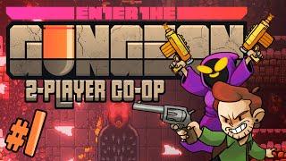 Enter the Gungeon - #1 - T-shirt Gun (Gungeon 2-player Co-op Gameplay)