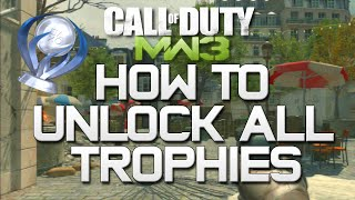 How To Unlock All Trophies on Modern Warfare 3 - PS3