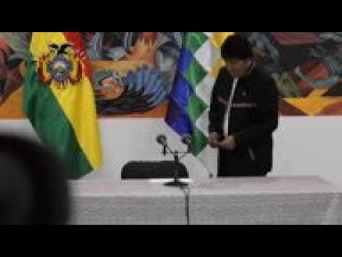 Bolivia's Morales says coup attempt is underway