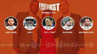 First Things First audio podcast(11.9.18) Cris Carter, Nick Wright, Jenna Wolfe | FIRST THINGS FIRST