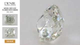 Natural Fancy Light Yellowish Green Diamond - 0.62 ct. - GIA certified.