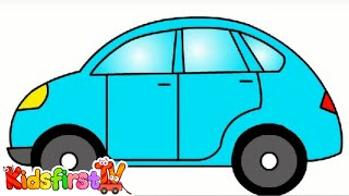 Smart Kids Learn Color Cartoons for Children 5: Coloured Cars [聪明的孩子创建具有彩色形状] ABC 123