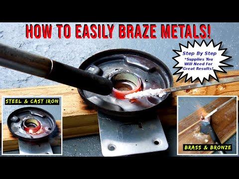 How To EASILY Braze Steel/Iron/Brass/Bronze/Copper