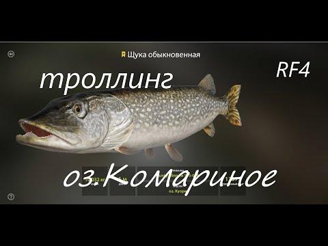 троллинг на оз. Комариное. русская рыбалка 4. RF 4.