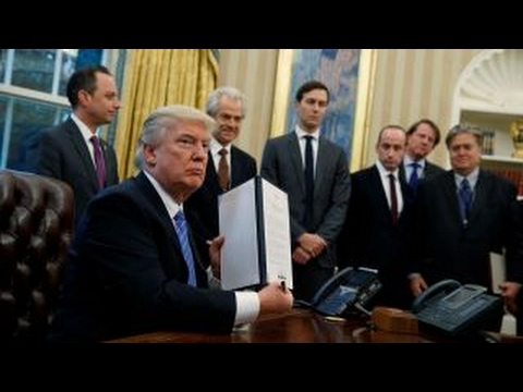 President Trump signs 3 executive orders, withdraws US from TPP