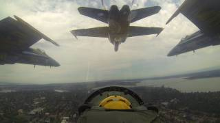Blue Angels - Slot Looking Forward Part 2 - Seattle - August 2014
