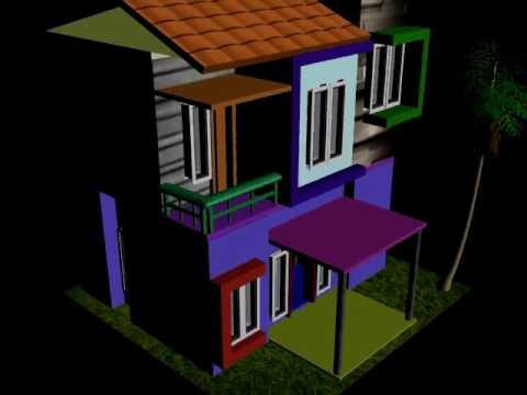 Desain Rumah Minimalis Dengan 3ds Max  contoh desain rumah 3ds max youtube