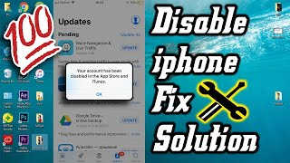 iPhone Your Account Has Been Disabled in the App Store and iTunes Fix Solution 2019