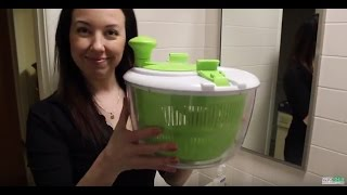 How to Wash a Bra in a Salad Spinner -- Life Hack