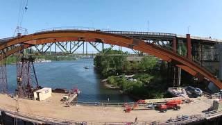 Sellwood Bridge Construction Time-lapse