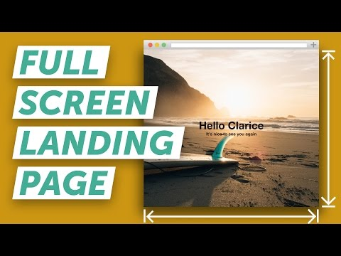 How to Make a Full Screen Landing Page (HTML & CSS)