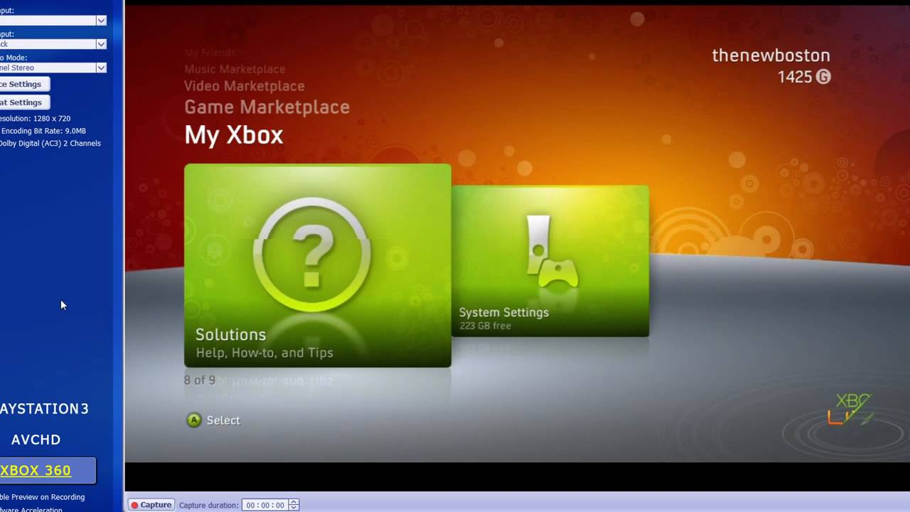 How to Record XBox 360 Gameplay in HD - Part 2/2