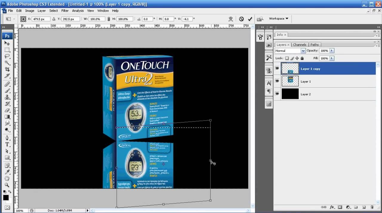 Photoshop tutorial episode 15 advanced mirrorreflection photoshop tutorial episode 15 advanced mirrorreflection effect youtube baditri Choice Image