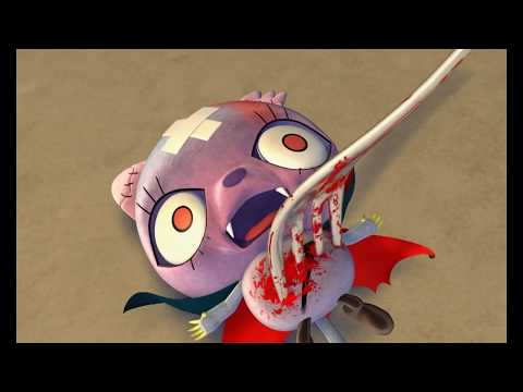 Zombie animation: A Zombie's Horns Go Soft - Mad Box Zombies