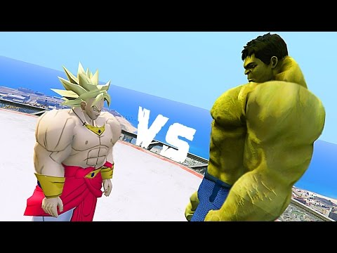 BROLY Vs HULK (Marvel Vs TOEI MOD) GTA 5 Mods
