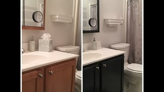 How to update the color of your bathroom vanity cabinet