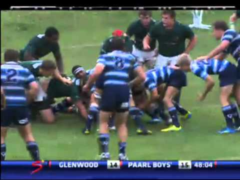 Wildeklawer Super Schools Rugby - Glenwood High School v Paarl Boys High - Second Half