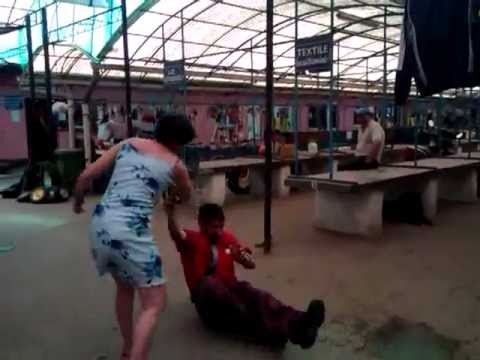 Crazy women humiliates a very,very idiot and stupid man thumbnail