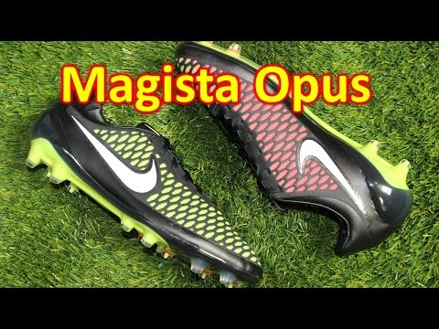 Nike Magista Opus Black/Volt/Hyper Punch - Unboxing + On Feet
