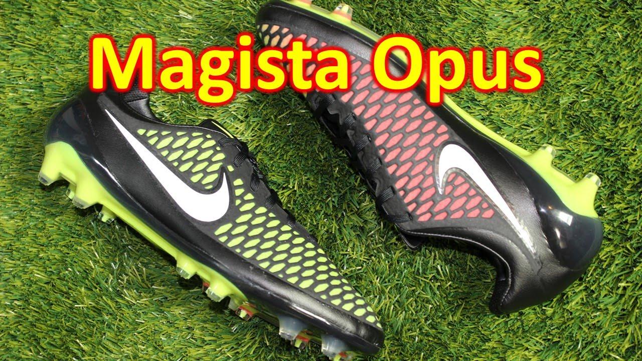 a982fa19e60b Nike Magista Opus Black Volt Hyper Punch - Unboxing + On Feet - YouTube