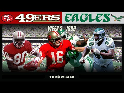 [NFL Throwback] Montana's Toughest Comeback (49ers vs Eagles, 1989 Week 3)