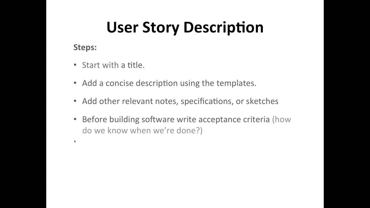 User Story Template Acceptance Criteria Stories Sar Infotech Youtube