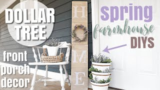 DIY DOLLAR TREE SPRING PORCH DECOR | FARMHOUSE STYLE DIY