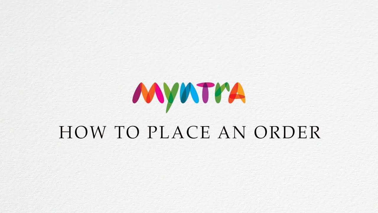 7829daa53490 Learn how to place orders on Myntra - YouTube