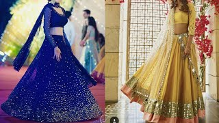 Latest mirror work lehenga designs for wedding ,reception,Engagement ,sangeet/beautiful lehenga idea