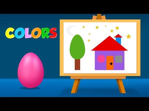 Learn Colors and Shapes with Coloring Pages - Colouring pages for Chiildren