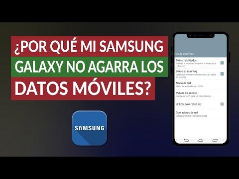 ¿Por qué mi Samsung Galaxy no Agarra los Datos Móviles y no Funciona?