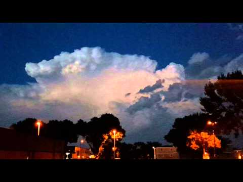 Rare Ball Lightning Video in Sioux Falls, SD