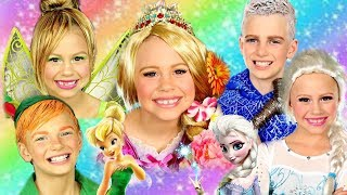 Disney Princess Makeup and Costumes Compilation! Elsa, Jack Frost, Rapunzel, and Tinkerbell Makeup!