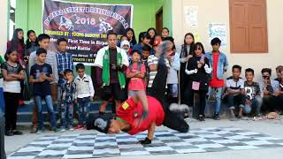 Dooars street b boyng battle second round first time in birpara org.by young buddha dance academy