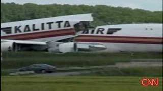 Jumbo Crash in Brussels - 747 splits in half - aftermath