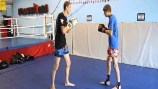 Set-up to a knee strike video by Jesse Bird