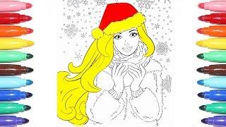 ♥ Барби играет в снежки | Раскраски для детей| Изучаем цвета | Познавайка ТВ ♥