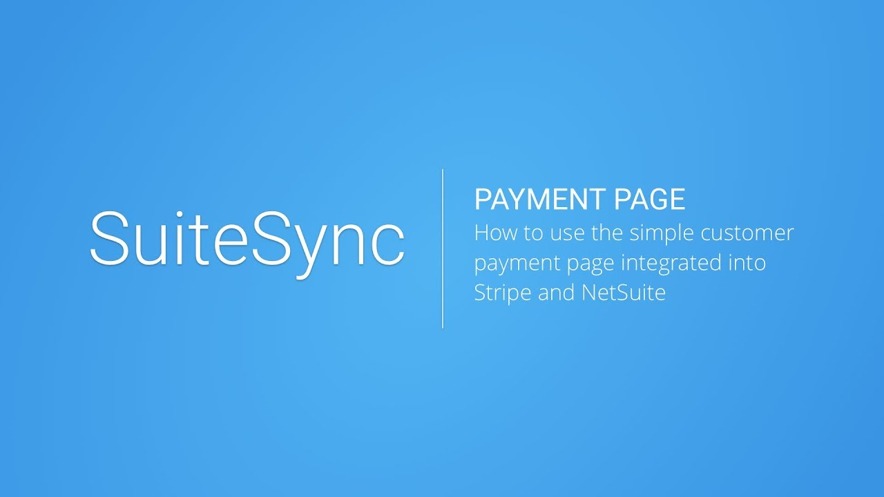 Stripe NetSuite Connector - NetSuite B2B Payments with Stripe
