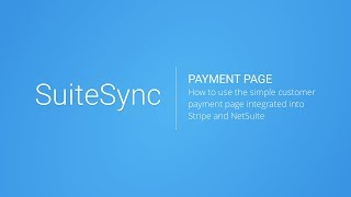 How to Pay NetSuite Invoices & Orders with Stripe
