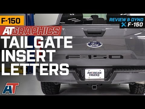 2018-2019 F150 AmericanTrucks Graphics Matte Black Tailgate Insert Letters Review & Install