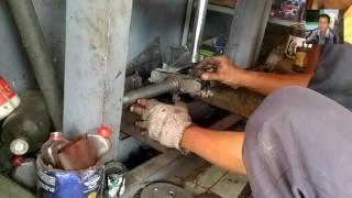 Cara Memperbaiki Setang Motor - Senter as shock atau Senter T mudah dan presisi