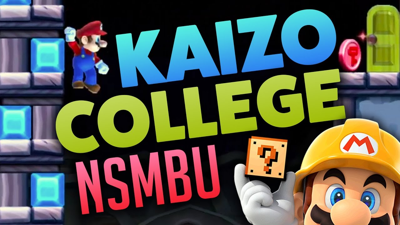 super mario maker kaizo college 3 courses nsmbu tech youtube