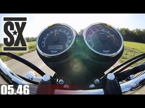 Triumph Bonneville T 100 Acceleration 0 100 Kmh Youtube