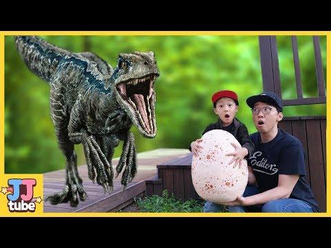 랩터 알을 갖고 뛰어라!  인도랩터 티라노사우르스 쥬라기 월드 공룡 장난감 놀이 Jurassic World IndoRaptor Blue T-rex[제이제이튜브-JJ tube]