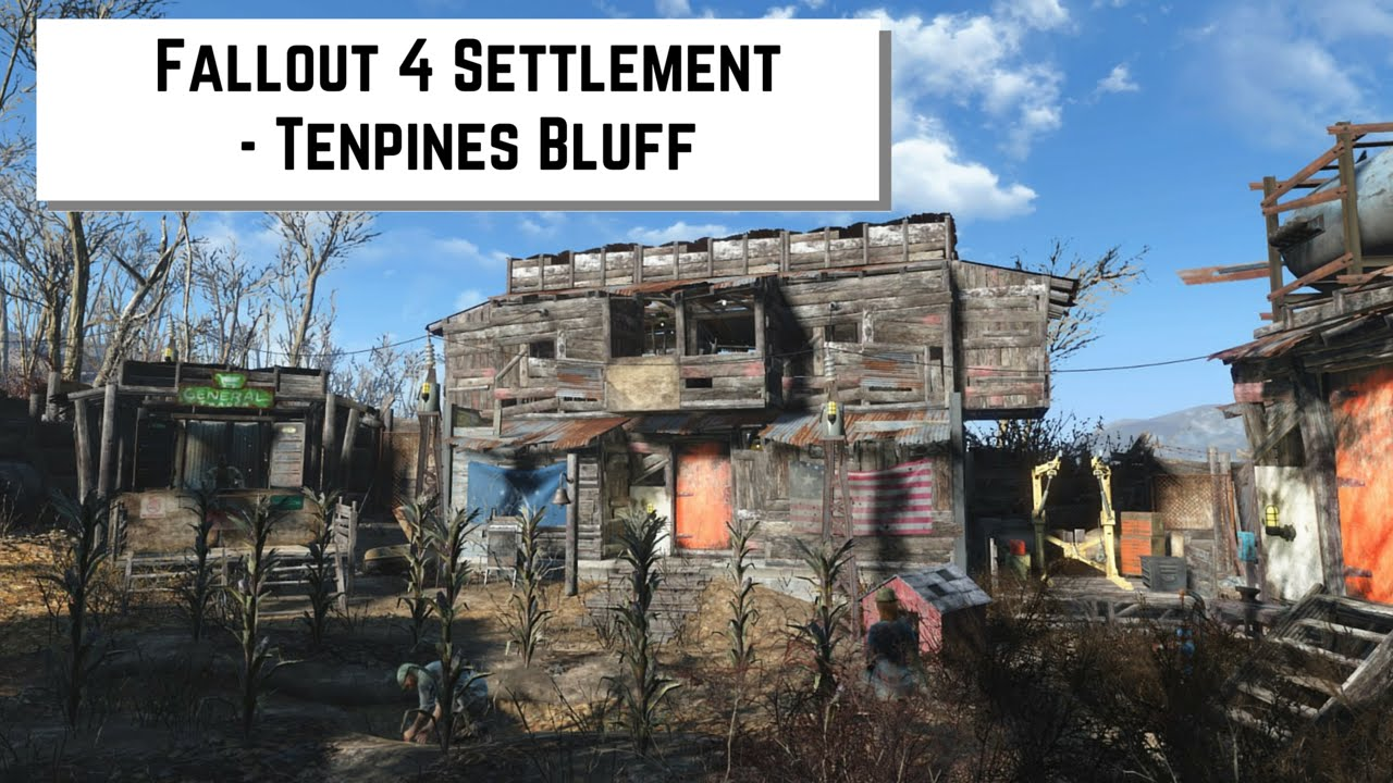 Fallout 4 settlement tenpines bluff youtube for Fallout 4 bedroom ideas