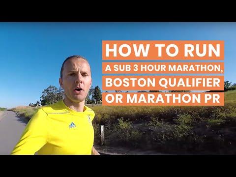 How to Run a Sub 3 Hour Marathon, Boston Qualifier or Marathon PR