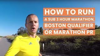 How to Run a Sub 3 Hour Marathon, Boston Qualifier or Marathon PR | Heart Rate Training on Long Runs
