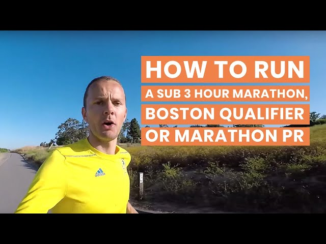 How to Run a Sub 3 Hour Marathon, Boston Qualifier or Marathon PR | Heart Rate Training on Long Runs